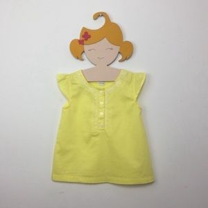 Carter's Embroidered Yellow Peasant Top Girl's 4T